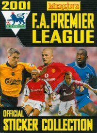 Merlin Premier League 2001 Album Cover Old School Toys, Football Stickers, Merlin, Premier League, Album Covers, Baseball Cards, Badges, Albums, Sports