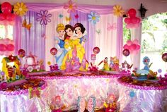 Disney Party Themes For Girls Disney Princess Decorations, Princess Birthday Party Decorations, Disney Princess Birthday Party, Princess Theme Party, Girls Birthday Party Themes, Birthday Parties, Color Rosa, Aurora Disney, Ideas Para