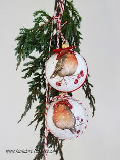bombki decoupage z ptaszkami Decoupage, Christmas Ornaments, Holiday Decor, Home Decor, Decoration Home, Room Decor, Christmas Jewelry, Christmas Baubles, Christmas Decorations