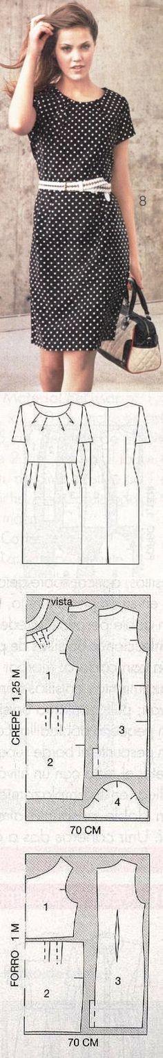 Шьём платье в горошек VENCA.МК.