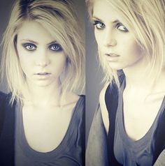 Love her hair and make up, so grunge