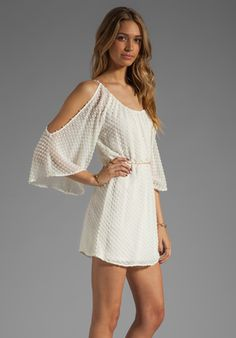 AKIKO Open Shoulder Dress in Marshmallow at Revolve Clothing - Free Shipping!