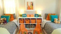 A co-ed kid room doesnt have to be a design challenge!