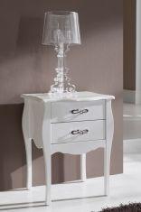 Tables de Chevet de Style Classique : Modèle ROSA Blanc