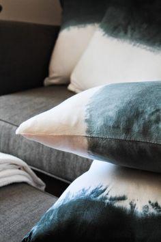 DIY: Dip Dye Indigo Cushions