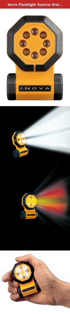 Inova Flashlight System Stainless Steel 28 Lumens Carded. FLASHLIGHT, 7 FUNCTION LED LIGHTING.