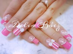 pink bow - Nail Art Gallery