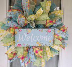 Floral Wreaths, Deco Mesh Wreaths, Wreaths For Front Door, Door Wreaths, Primitive Wreath, Mothers Day Wreath, Magnolia Wreath, Welcome Wreath, Summer Wreath