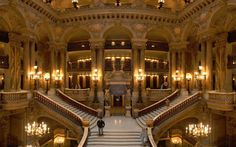 THE PARIS OPERA GRAND STAIRCASE   Photograph by BENH LIEU SONG   The Palais Garnier, known also as the Opéra de Paris or Opéra Garnier, but more commonly as the Paris Opéra, is a 1,600-seat opera house on the Place de l'Opéra in Paris, France, which was the primary home of the Paris Opera
