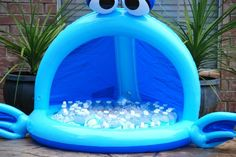Baby pool for cool beverage storage. Love it.