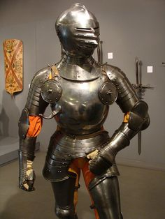 ca. 1515 - 'field armour, later poleyns, greaves and sabatons', German, Karsten Klingbeil Collection, Pierre Bergé & associés Auction House, Brussels, Belgium. Flickr album: http://www.flickr.com/photos/roelipilami/6553865963/