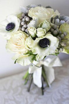 bouquet blanc//anemones