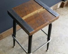 antique rustic stool - Google Search