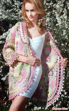 Irish crochet &: IRISH LACE COAT ... ПАЛЬТО