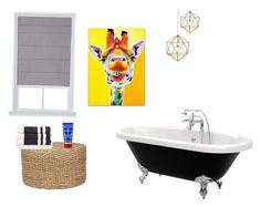 """""""Bathroom 🚽"""" by arwensazzy on Polyvore featuring interior, interiors, interior design, home, home decor, interior decorating, Jayson Home, James Perse, Gianna Rose Atelier and Trademark Fine Art"""