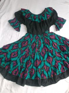 Square Dance Dress in Southwestern print     PRICE by LookEhere