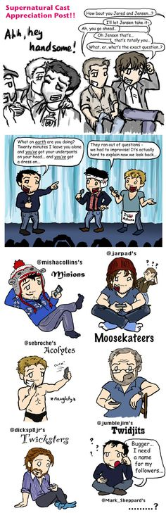 SPN Cast Appreciation Post by blackbirdrose on deviantART [Mark Sheppard's fans are Bob now ;D ] - They should be Badgers!