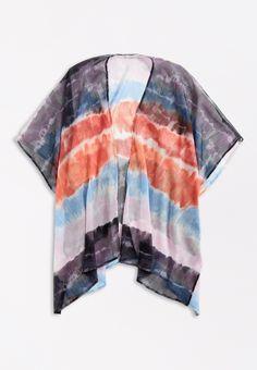 Tie Dye Open Front Ruana Summer Outfits Women, Summer Wardrobe, Tie Dye, Fabric, Shopping, Products, Style, Fashion, Tejido