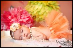 Newborn Infant Baby Girl Tutu with Matching by OhHoneyBowtique
