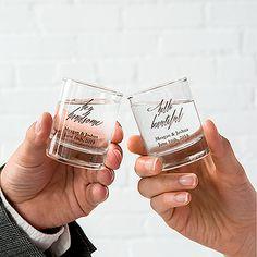 Personalized Shot Glass Wedding Favor