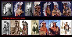 Foto e riproduzione plastica di un uomo Jicarilla con un cimiero ornato con penne d'aquila e corna di bisonte. Simile ad analoghi copricapi dei guerrieri delle varie etnie delle Praterie, come i loro nemici Comanche, era simile a quelli portati dai capi di guerra del Pueblo di Taos, loro alleati.