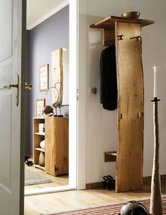 Garderobe Loca Garderobe Loca The post Garderobe Loca appeared first on Zuhause ideen. German Decor, Garderobe Design, Wooden Wardrobe, Hallway Decorating, Interior Design Living Room, Home And Living, Tall Cabinet Storage, Shoe Cabinet, Diy Furniture