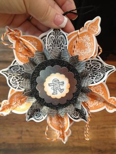 halloween ornament using stampin up ornament bundle