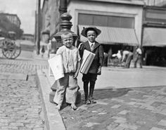 lewis hine photographs | Richard Green (with hat), 5 year old newsie. Many of these little ...