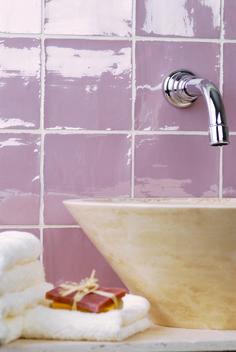 Nice shiny 'Blossom' wall tiles.