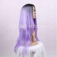 синтетический парик длинные прямые волосы женщин ломбера фиолетовый парик термостойкого Cospaly парик 2017 - p.1197.86