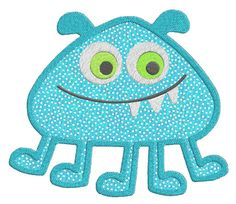 Monster APPLIQUE Machine Embroidery Designs by SewWithLisaB, $14.99