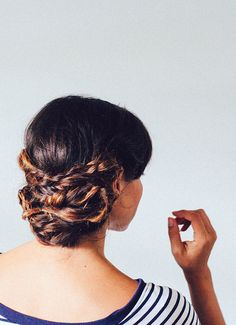 Double fishtail braid stack | In Honor of Design