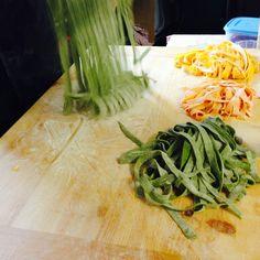 We love to make pasta! #food #pasta