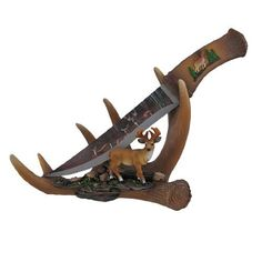 `Six Point Blade` Decorative Deer Knife with Antler Display Stand by Things2Die4, http://www.amazon.com/dp/B0087342JW/ref=cm_sw_r_pi_dp_zl5Yrb14C0WCX