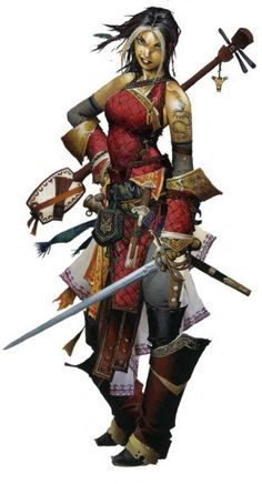 More from Paizo. This is Amieko from the Rise of the Runelords adventure path and, later, the Jade Regent.