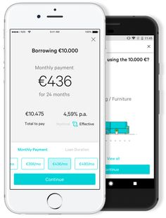 users can now get a credit line in five minutes – TechCrunch Brand Identity, Branding, The Borrowers, Mobile App, Phone, Communication, Europe, Layout, Wallet