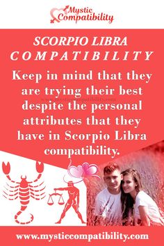 Keep in mind that they are trying their best despite the personal attributes that they have in Scorpio Libra compatibility. #Scorpio #Libra #Relationship #Compatibility #Scorpio_Libra #Relationship_Compatibility #ScorpioLibra #RelationshipCompatibility #Zodiac_Signs Scorpio Compatibility, Relationship Compatibility, Scorpio And Libra, Libra Love, Libra Relationships, Keep In Mind, Mystic, Zodiac Signs, Mindfulness