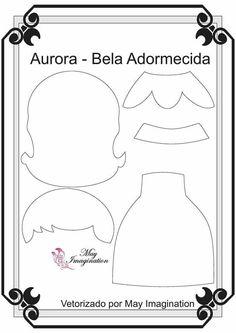 Aurora Princesas com 20 cm Vetorizadas por May Imagination