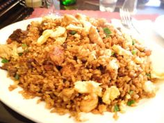COMIDA CHINO - PERUANA.: ARROZ CHAUFA DE PESCADO / FRIED RICE FISH / 炒白饭鱼