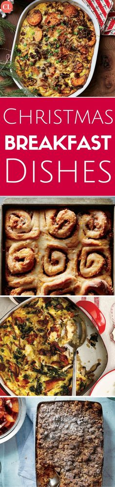 The holidays promise some of the happiest, coziest family breakfasts of the year. Make it hassle-free as well with sweet and savory dishes you can make in advance. From gooey cinnamon rolls and a cheesy breakfast strata to creamy casseroles and a light spinach quiche, we've cooked up dishes that will delight your senses and your family. These easy, make-ahead casseroles and breakfast rolls are a great joy to the cook and deliver comfort to the table. | Cooking Light