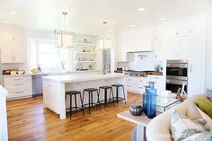Light, bright and white kitchen. | House of Turquoise: Caitlin Creer Interiors