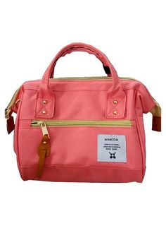 3daf92bf3797 Authentic Anello Japan Imported Canvas Unisex Size M Peach Sling Handbag -  Lulugift.com