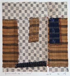 """takahikohayashi: """" ARCHIPELAGO-2 No.09 collage,patchwork ,Okinawan antique fabric 林孝彦 HAYASHI Takahiko 1995 """""""
