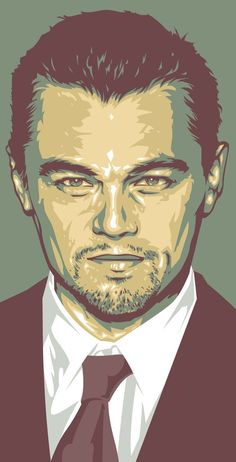 I'm such a dork, but I absolutely adore this Leonardo DiCaprio art.