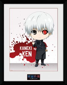 Tokyo Ghoul - Chibi Ken - Big Framed Collector Print. 25mm Moulding. Shatter Proof Styrene. Official Merchandise. FREE SHIPPING