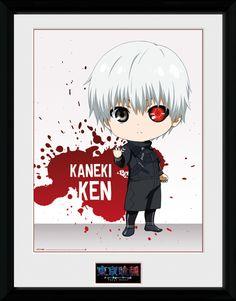 Tokyo Ghoul - Chibi Ken - Big Framed Collector Print. 25mm Moulding. Shatter Proof Styrene. Official Merchandise. FREE SHIPPING