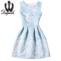 >> Click to Buy << Dingaozlz fashion casual dress Vestidos Korean elegant female sleeveless summer dress   printed women retro dress #Affiliate