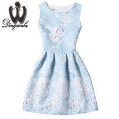 >> Click to Buy << Dingaozlz fashion casual dress Vestidos Korean elegant female sleeveless summer dress   printed women retro dress #Affiliate