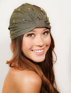 Gold Crystal Full Turban Headband Headwrap Earwarmer Headpiece on Etsy, $34.00