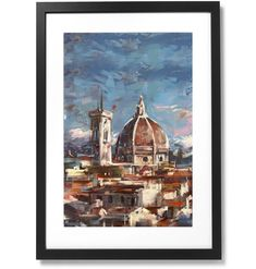 Framed City Collection - Duomo di Firenze Print, X The Republic, Black Wood, Museum, City, Frame, Prints, Artist, Painting, Collection